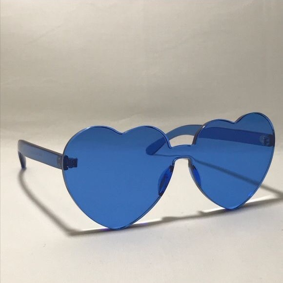 686cb990b THINK VINTAGE ONLINE Accessories | The And Real Blue Rimless Heart ...